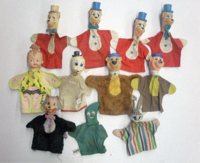 13: 1960's Cartoon Character Hand Puppets
