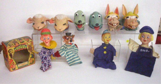 14: 1950's & 1960's Character Hand Puppets