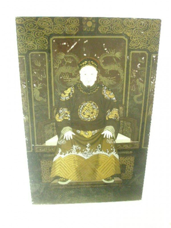1010: 19th c. Chinese Reverse Painting on Glass