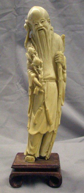 1016: Chinese Ivory Standing Deity