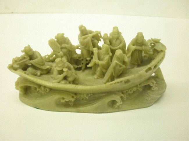 1017: Chinese Soapstone Multi Figure Carving