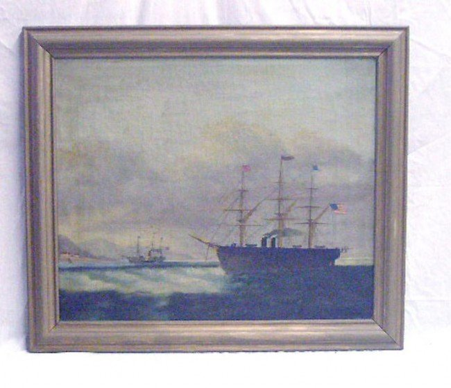 1174: Paintings, Laying of Transatlantic Cable, 1858