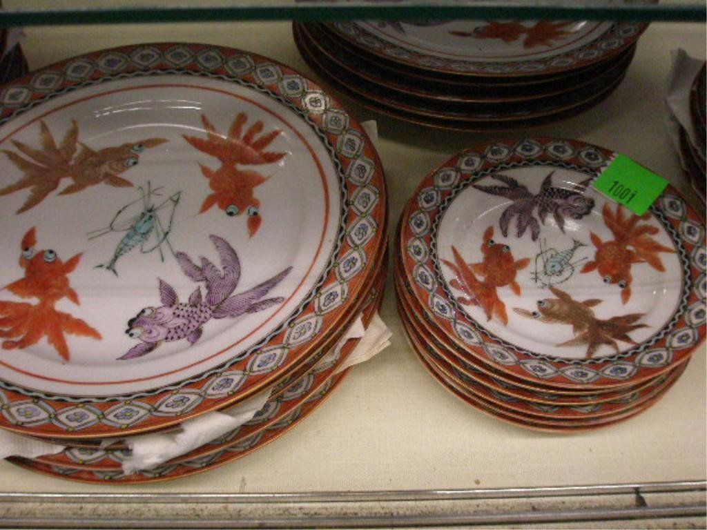 1001: Chinese Porcelain Luncheon Set