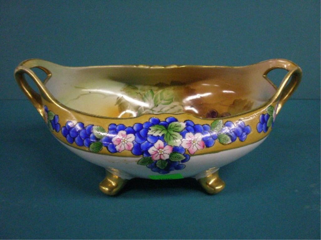 1002: Hand Painted Nippon Center Bowl