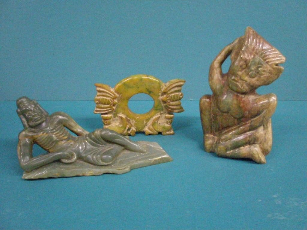 1006: Three Chinese Soapstone & Serpentine Carvings