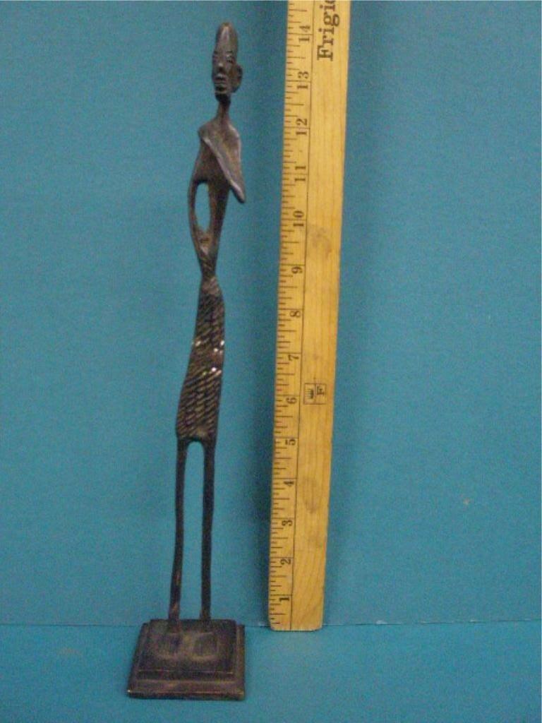 1010: African Bronze Figure of A Standing Man