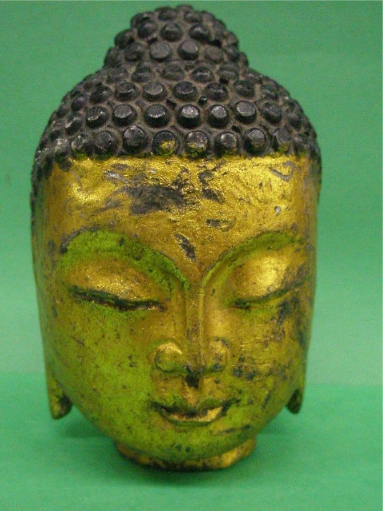 1014: India Carved Stone Buddha Head