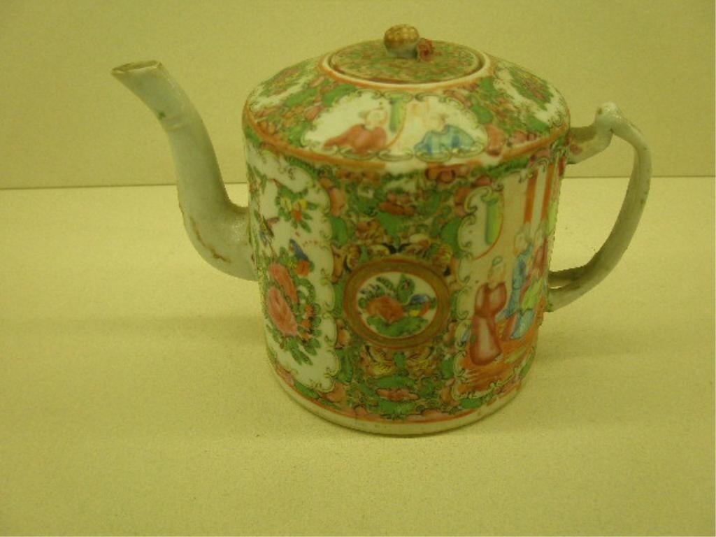 1022: Chinese Rose Medallion Teapot
