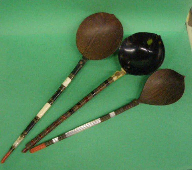 1024: 3 Oriental Serving Spoons
