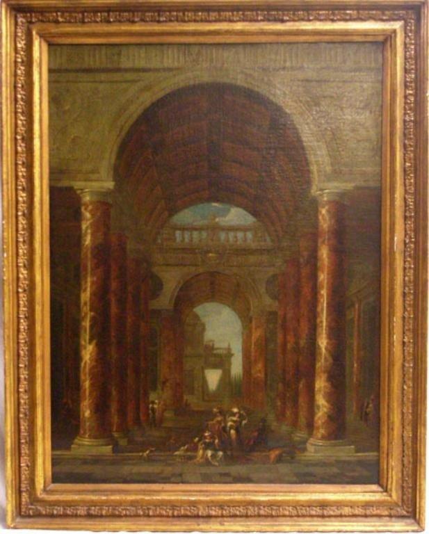 1157: School of Gi. Panini, o/c, Architectural Capricci