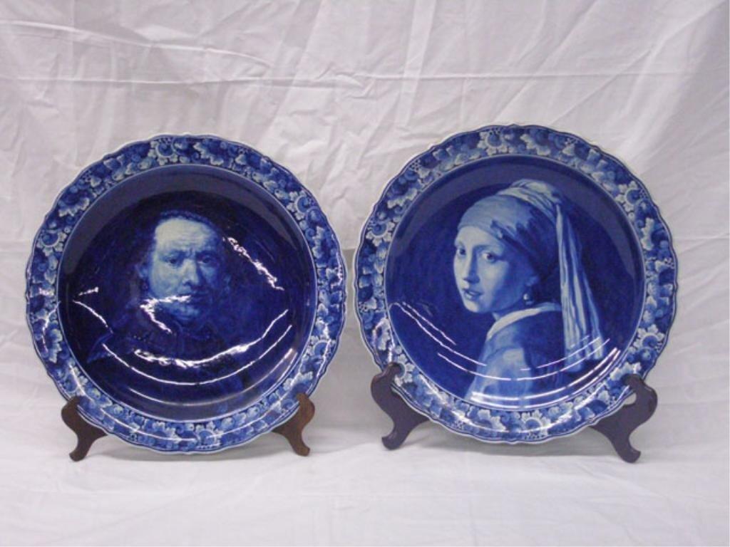 2002: Delft Pottery Portrait Chargers