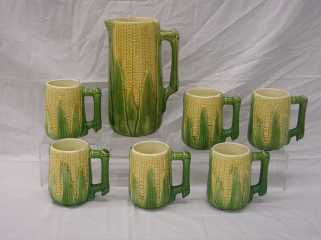 2012: Majolica Corn Tankard Set