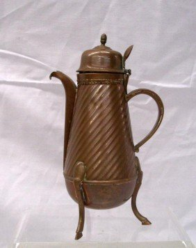 19th C. French Copper Syrup Pitcher