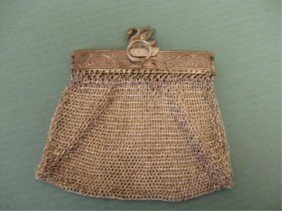 German Silver Chatelaine Purse