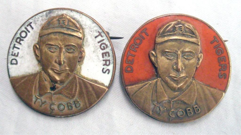 2198: Vintage Ty Cobb Portrait Pins