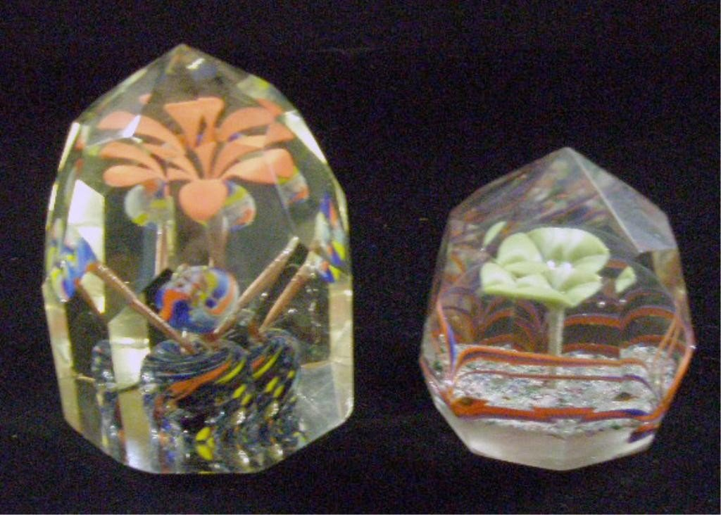 24: Vintage Faceted Glass Paperweights