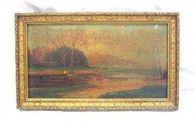 Frank J. Dillon Oil On Board, Landscape