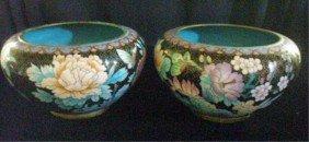 Antique Cloisonne Planters