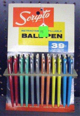 1960's Scripto Pen Store Display