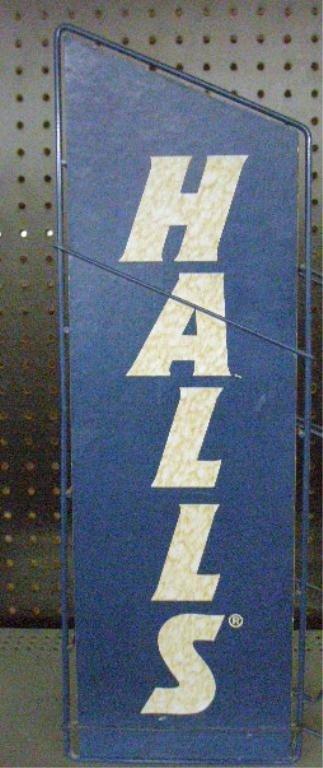92: Vintage Halls Cough Drops Display Rack