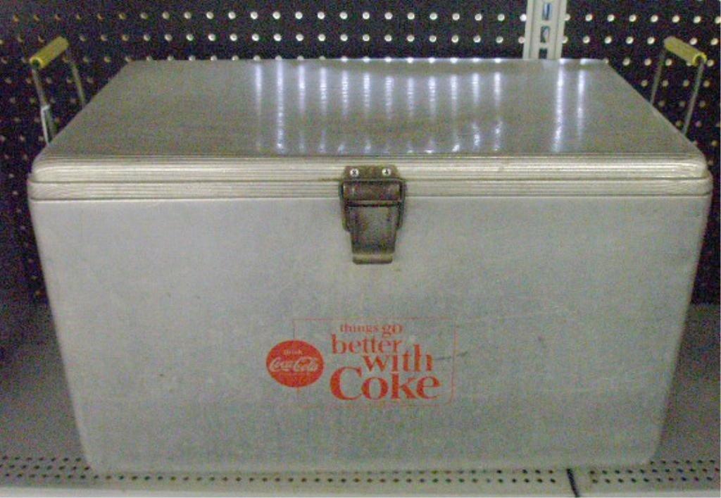 97: 1960's Coca Cola Picnic Cooler