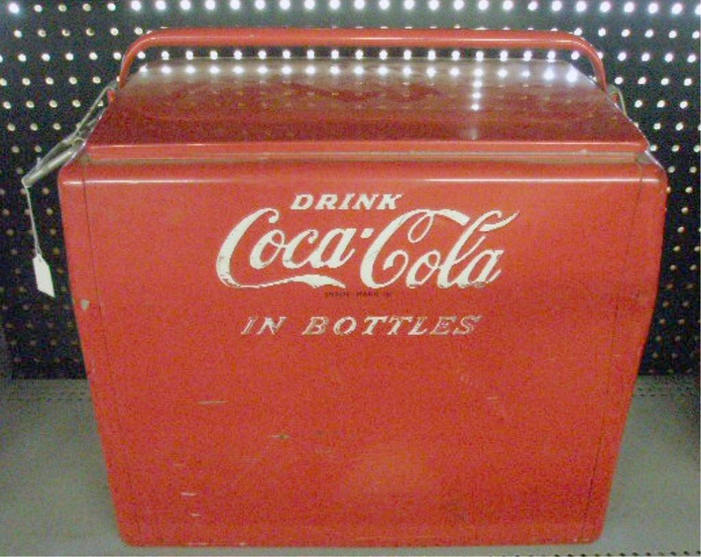 98: 1950's Coca Cola Picnic Cooler