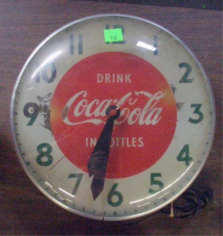 110: 1950's Coca Cola Wall Clock