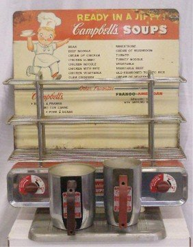 Vintage Campbell's Soups Warming Display