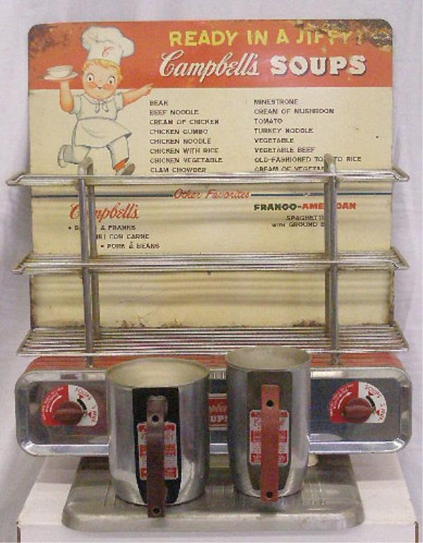 111: Vintage Campbell's Soups Warming Display