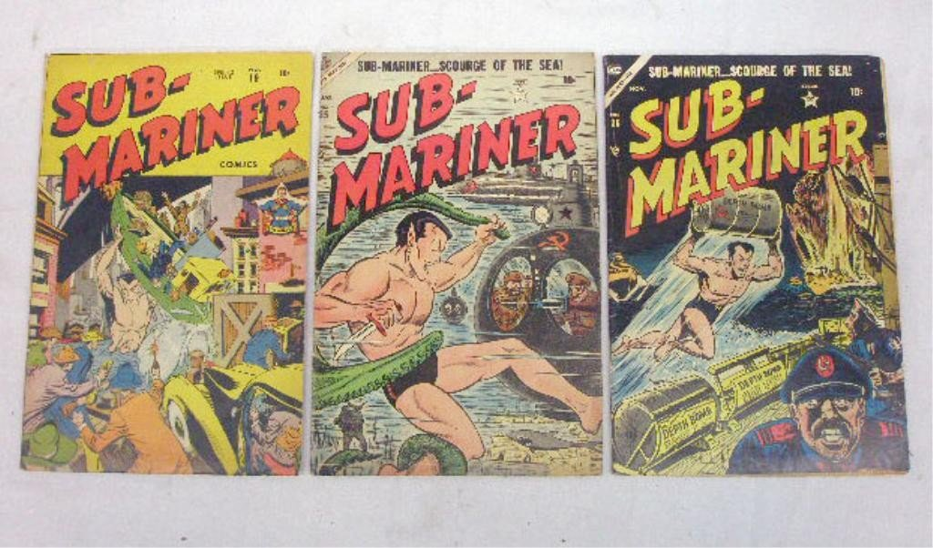 123: 1940's & 50's Sub-Mariner Comic Books
