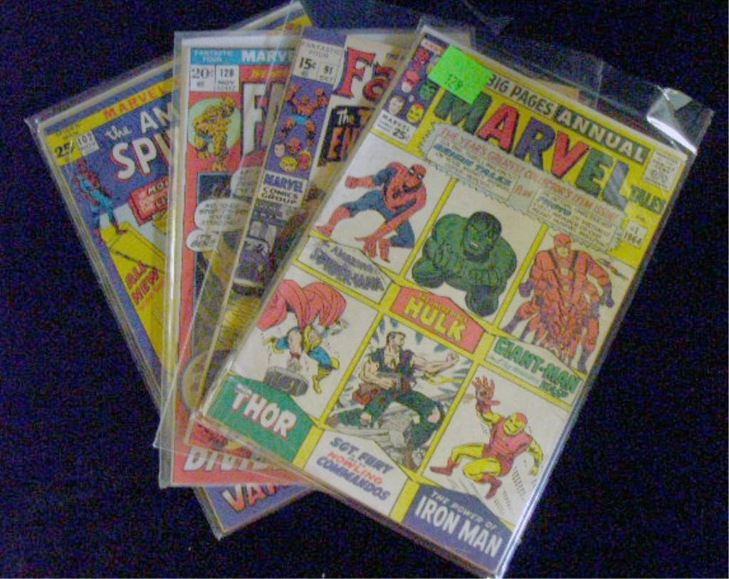 129: 1960's & 1970's Marvel Comic Books