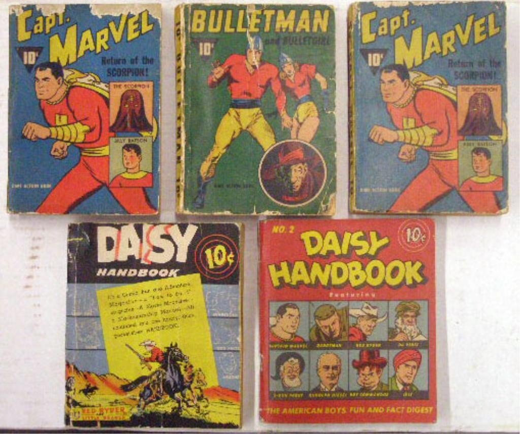 130: 1940's Dime Action Comic Books