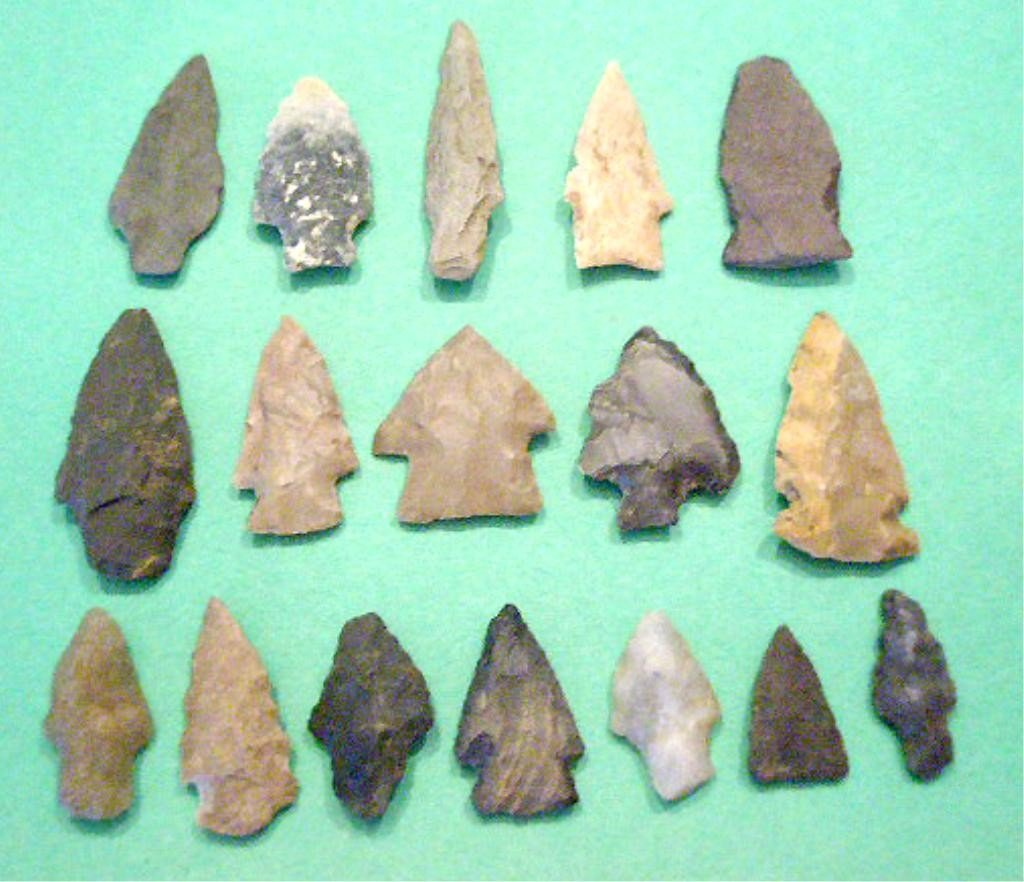 1001: 17 American Indian Projectile Points & Blades
