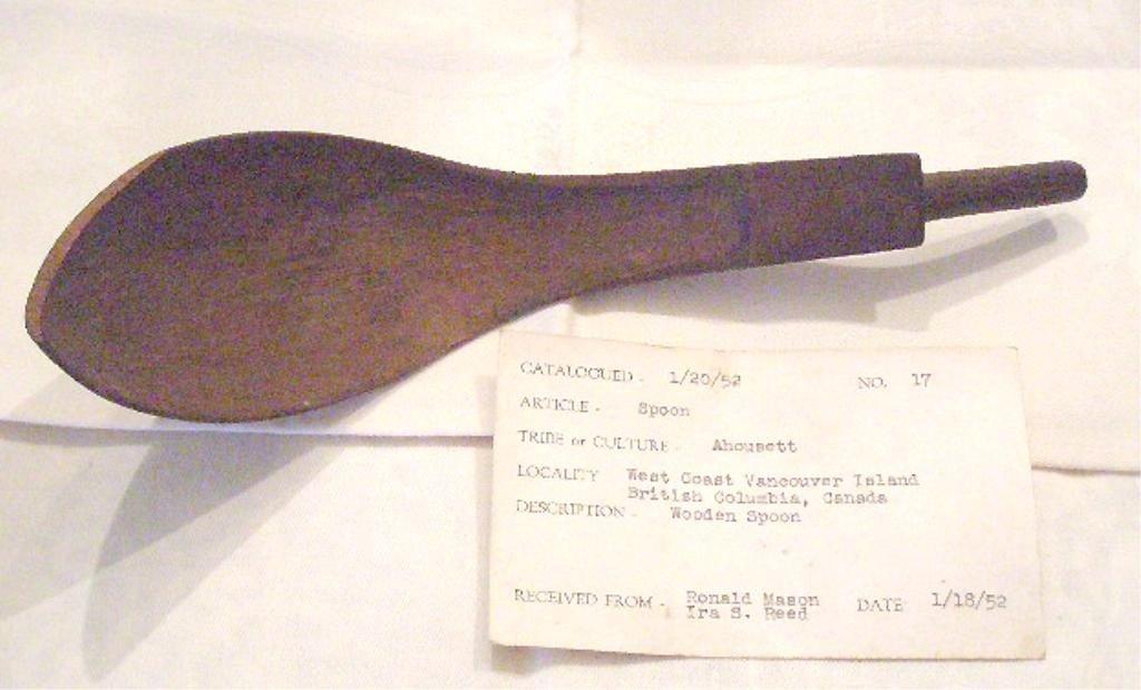 1015: Early Ahousett Tribe Wood Spoon