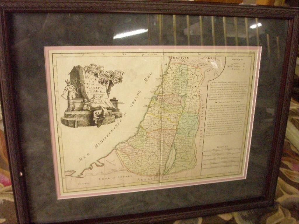 1368C: M. Bonne Map, Twelve Tribes of Israel