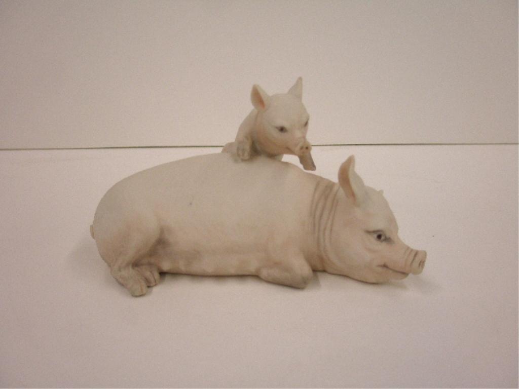 2017: Boehm Sow Piglet Figure