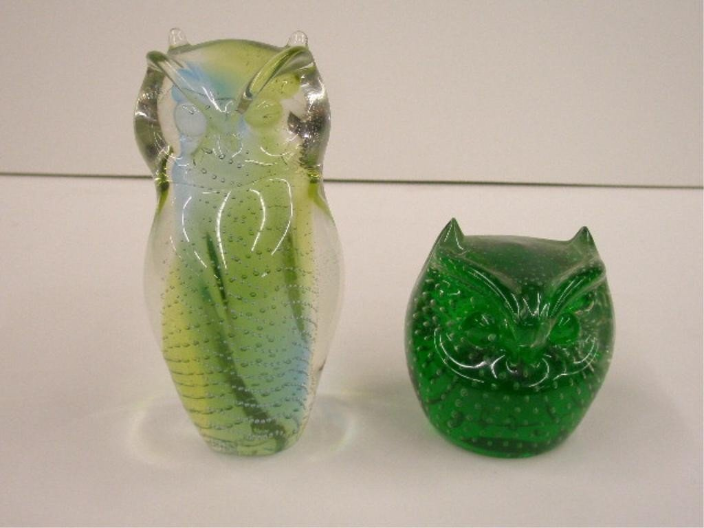 2048: Pilgrim Glass Owl Paperweights