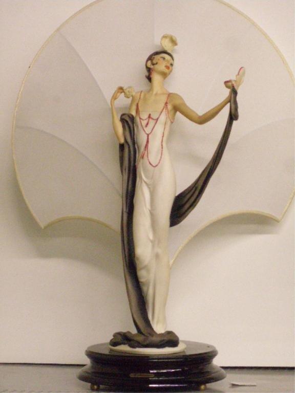 2049: Giuseppe Armani Art Deco Female Table Lamp