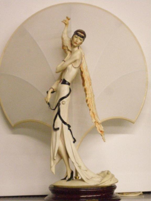 2050: Giuseppe Armani Art Deco Female Table Lamp