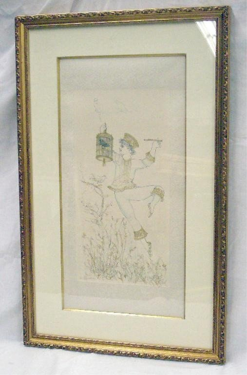 2070: Edna Hibel Colored Lithograph