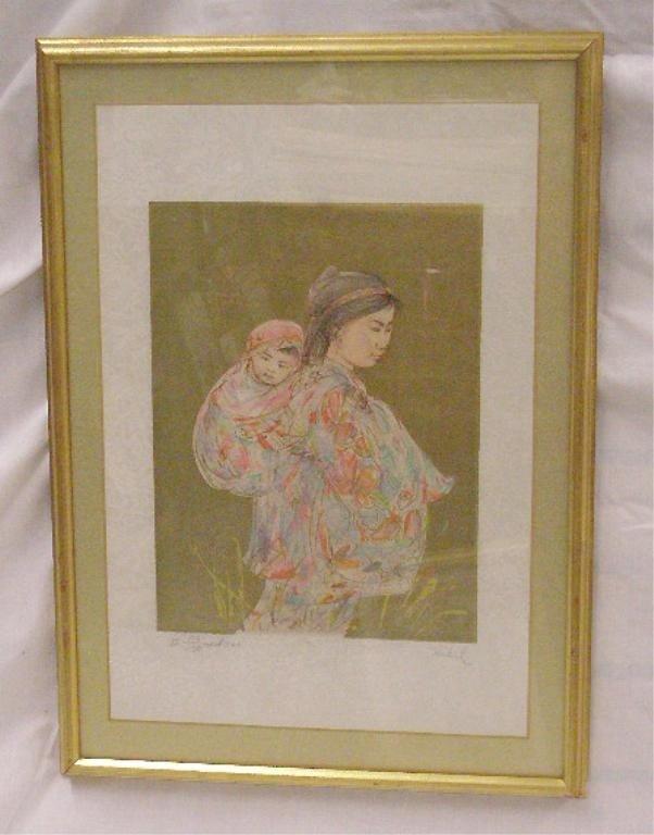 2073: Edna Hibel Colored Lithograph