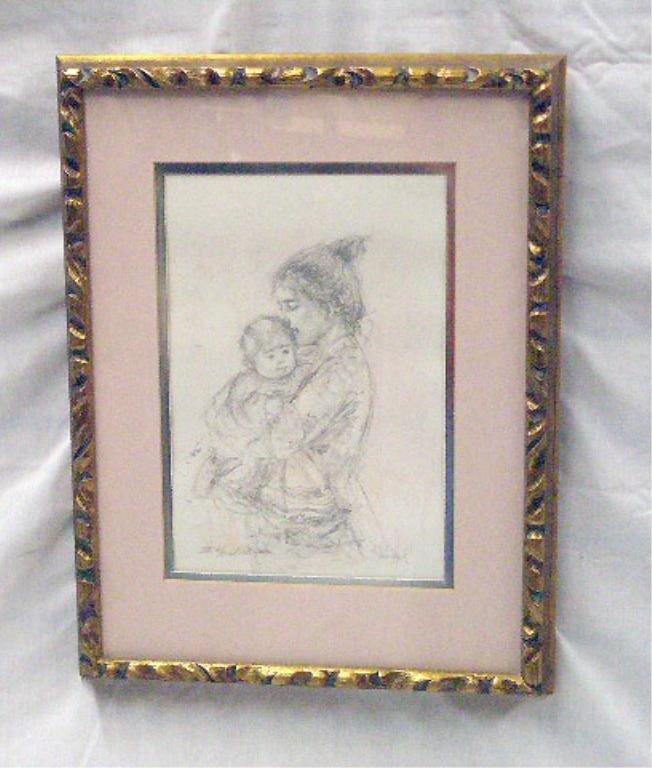 2078: Edna Hibel Colored Lithograph