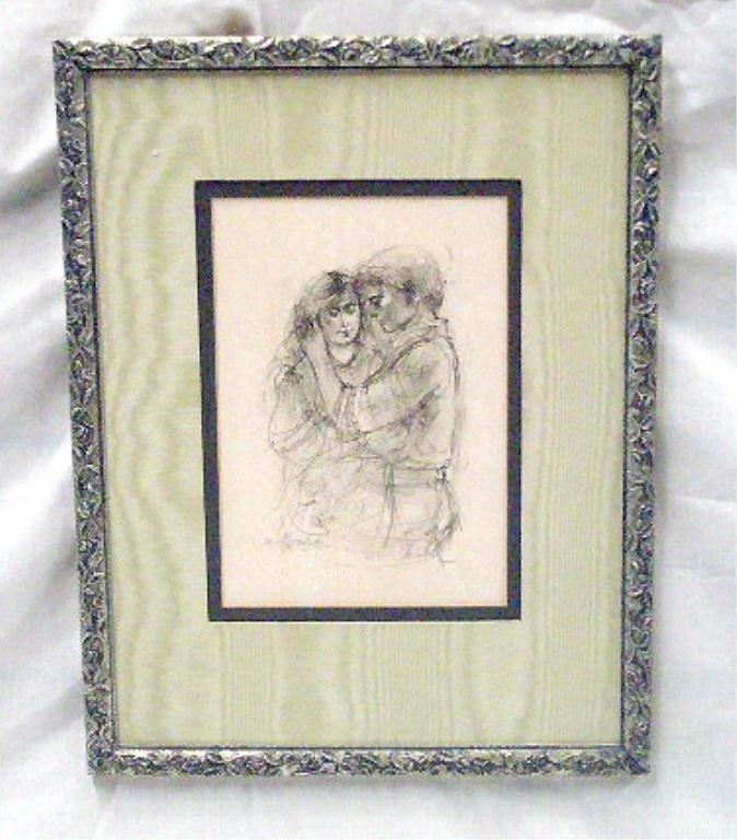 2079: Edna Hibel Colored Lithograph