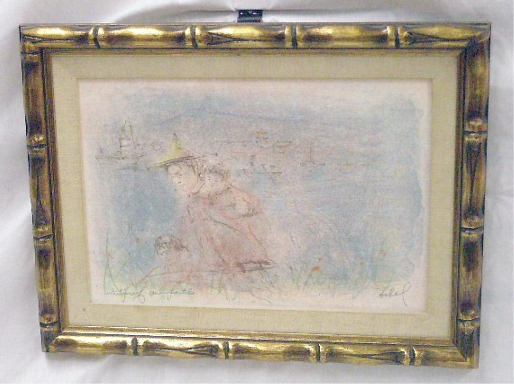 2082: Edna Hibel Colored Lithograph