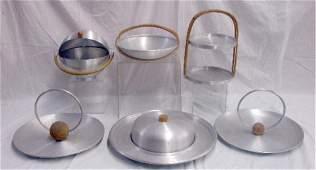 Russel Wright Spun Aluminum Serving Pieces