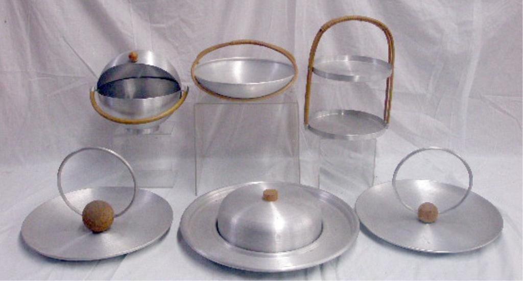 2084: Russel Wright Spun Aluminum Serving Pieces