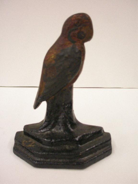 2090: Antique Cast Iron Parrot Doorstop