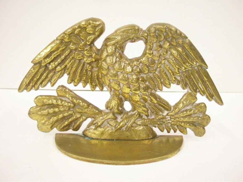 2091: Antique Brass American Eagle Doorstop