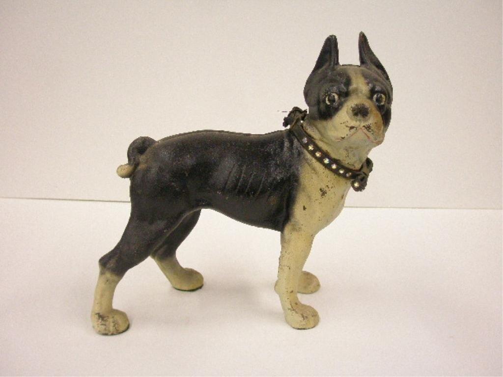 2093: Hubley Cast Iron Boston Terrier Doorstop