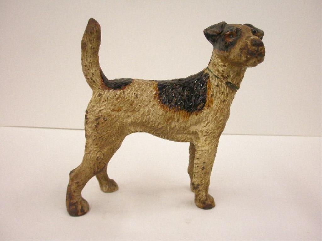 2094: Hubley Cast Iron Fox Terrier Doorstop